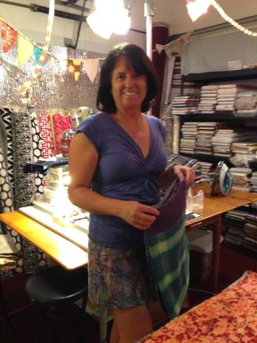Li'l Skirts Founder Jennifer Babiak creating in studio for fall line